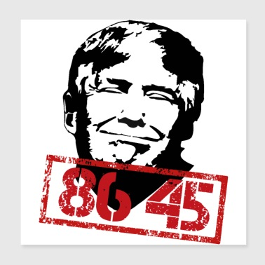 Anti Trump Impeach 45 8645 Stamp - Poster 8x8
