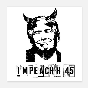 Stamp Anti Trump USA President Devil 45 Gift democrats - Poster