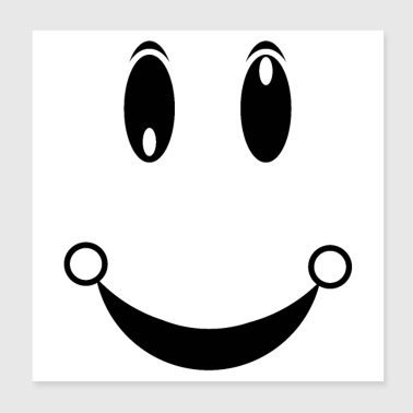 happiness face - Poster 8x8