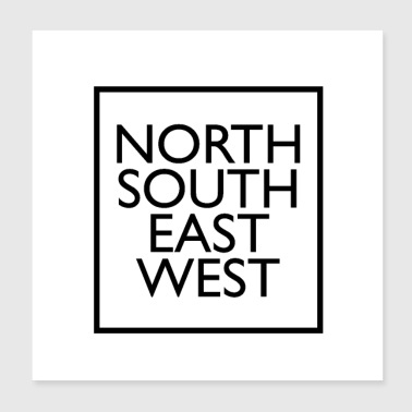 north south east west - Poster 8x8