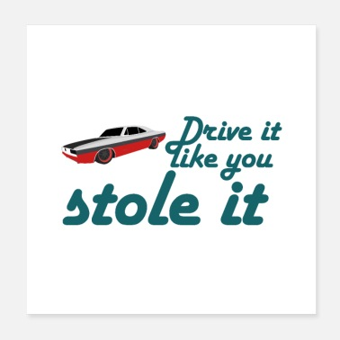 Drive drive it like you stole it - Poster