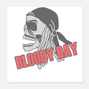 Bloody Bloody Bay Skull - Poster