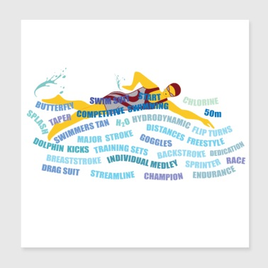 freestyler swimmer race - Poster 8x8