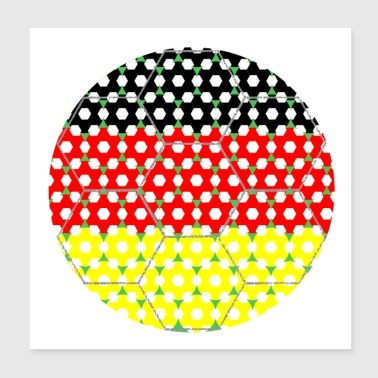 Soccer Flag Germany - Poster 8x8