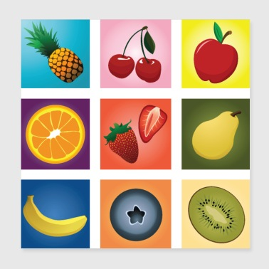 Fruit mix - Poster 8x8