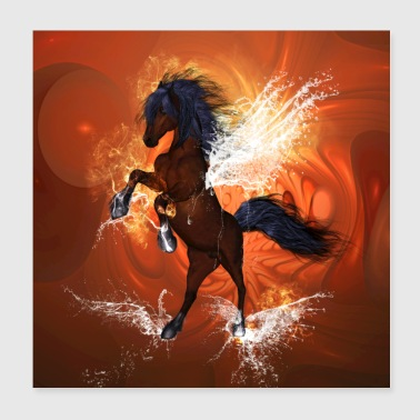 Beautiful horse with water wings - Poster 8x8