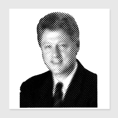 Pixelated Celebrities Bill Clinton President USA - Poster 8x8