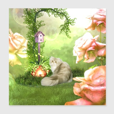 Cute cat in a fantasy world - Poster 8x8