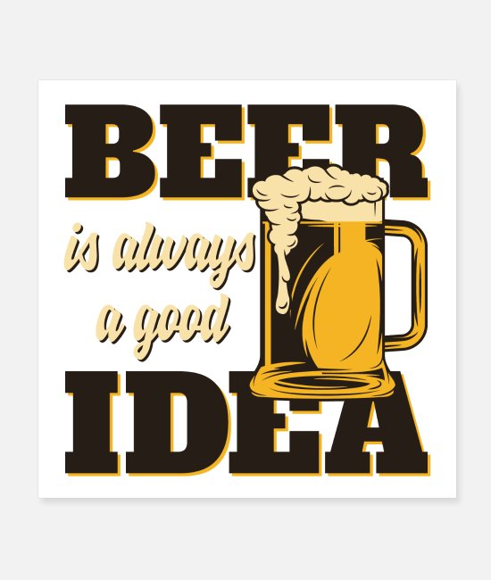 Craft Beer Posters - Men like beer - Posters white