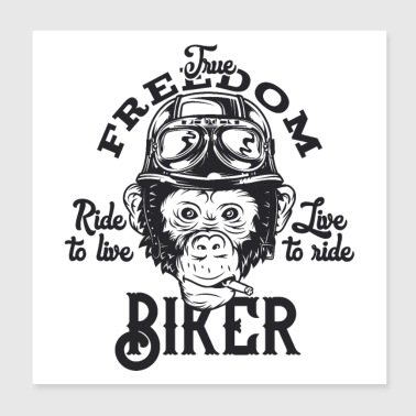 bikers are cool - Poster 8x8