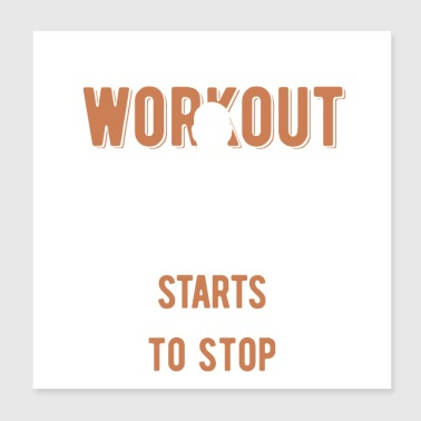 workout - Poster 8x8