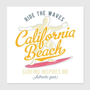 california beach - Poster 8x8