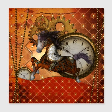 Awesome steampunk horse - Poster 8x8