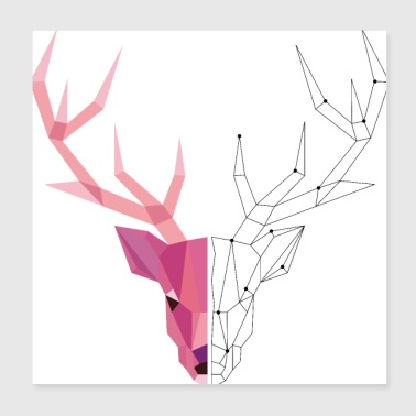 Geometric Stag - Poster 8x8