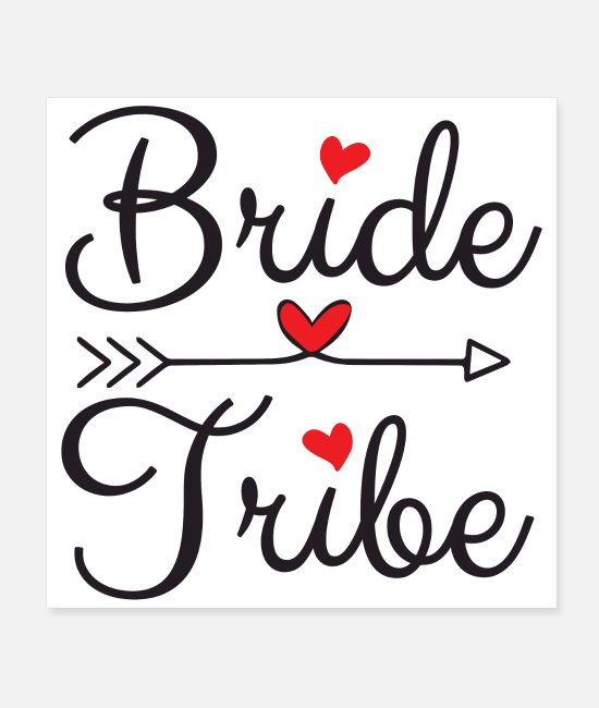 Bachelorette Party Posters - Bachelorette Party Wedding Bride Tribe Heart Arrow - Posters white