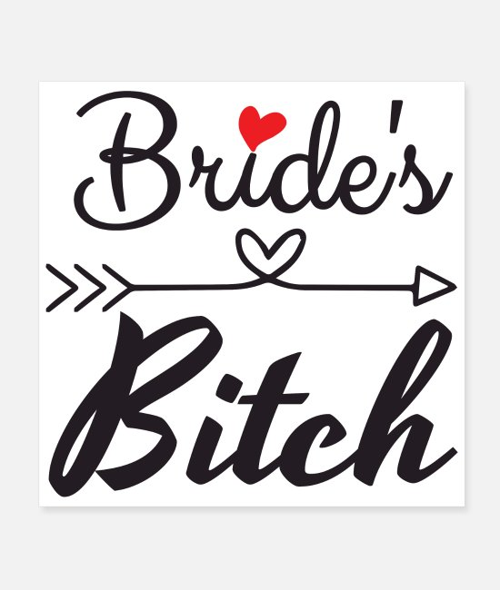 Bachelorette Party Posters - Bachelorette Party Wedding Brides Heart Arrow Gift - Posters white