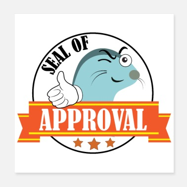 Thumb Up Seal of Approval Seal thumb up three stars - Poster