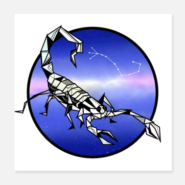 Star Signs Scorpio zodiac sign - Poster
