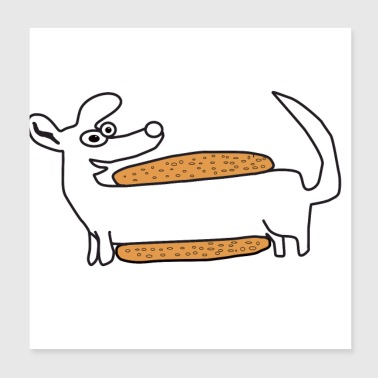 Hot Dog day dog lover gift idea sweet pet - Poster 8x8