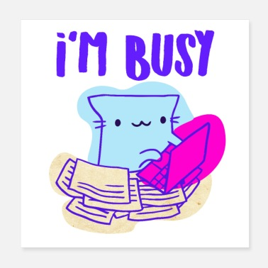 Doddle Busy Cat - Poster