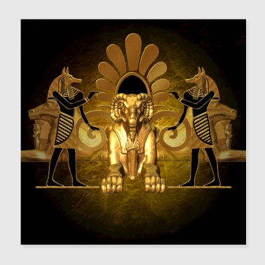 Anubis the egyptian god - Poster 8x8