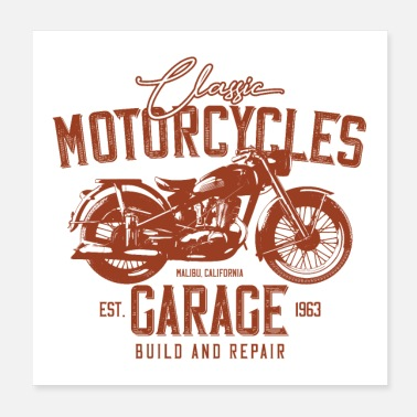 Cars Motorcycle - Poster