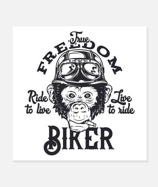 Motorbiker Posters - Motorcycle - Posters white
