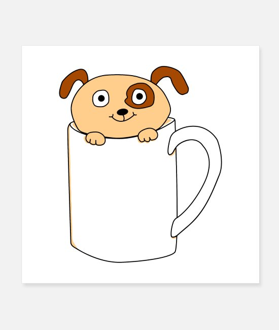 Pup In A Posters - Pup in a Cup - Posters white