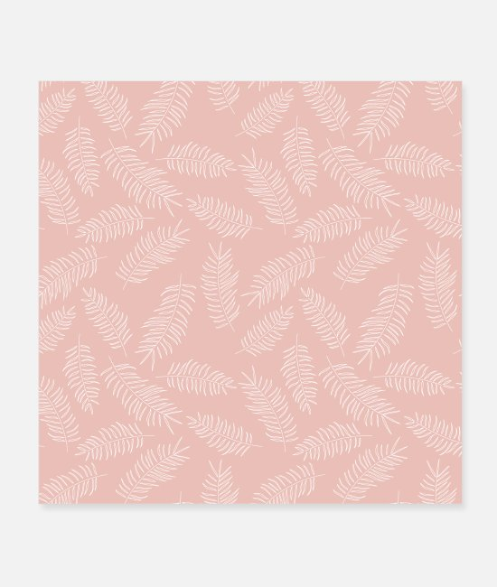 Pattern Posters - Tropical Seamless Floral Pattern - Posters white