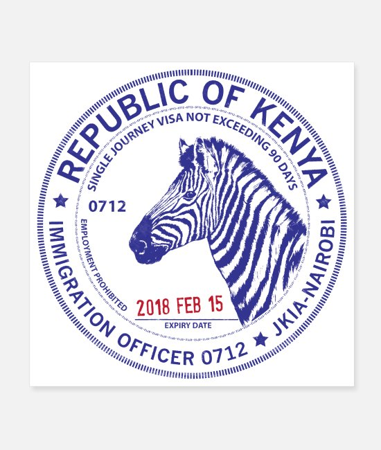 Travel Posters - Kenya Passport Stamp - Posters white