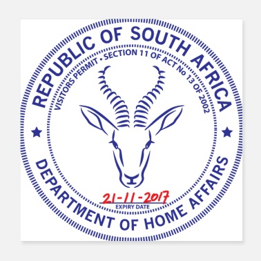 Springbok South Africa Passport Stamp - Poster