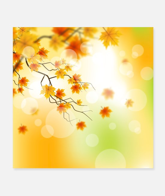 Trees Posters - Autumn light - Posters white