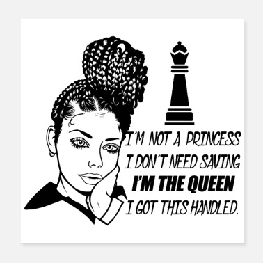 Afro Woman Life Quotes Diva Queen Classy lady Make Up - Poster