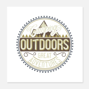 Camper Outdoor Camping Adventures - Poster