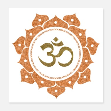 Om om The cosmic symbol of Peace - Poster