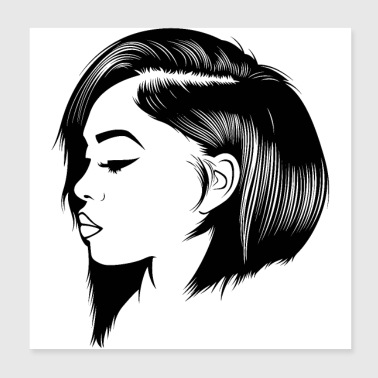 people pretty hairstyle copy - Poster 8x8