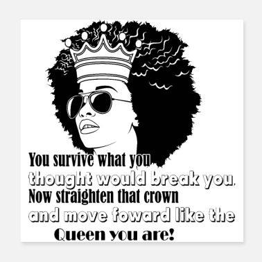Afro Woman Black Hair Style Natural Confident - Poster