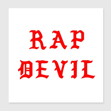 Minimal Halloween Dark Red Gothic Rap Devil - Poster 8x8
