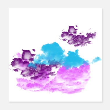 Colour Colourful Clouds - Poster
