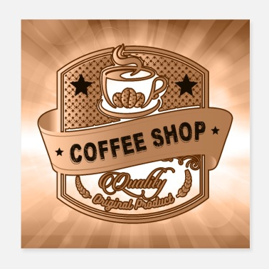 Brown Coffee Coffee Shop - Poster