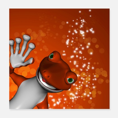 Gecko Funny cute gecko - Poster