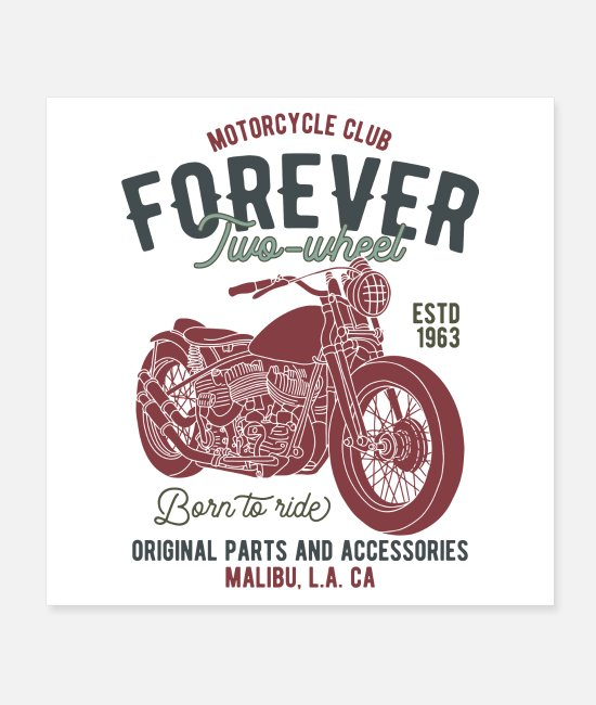 Pilot Posters - Biker forever - Posters white