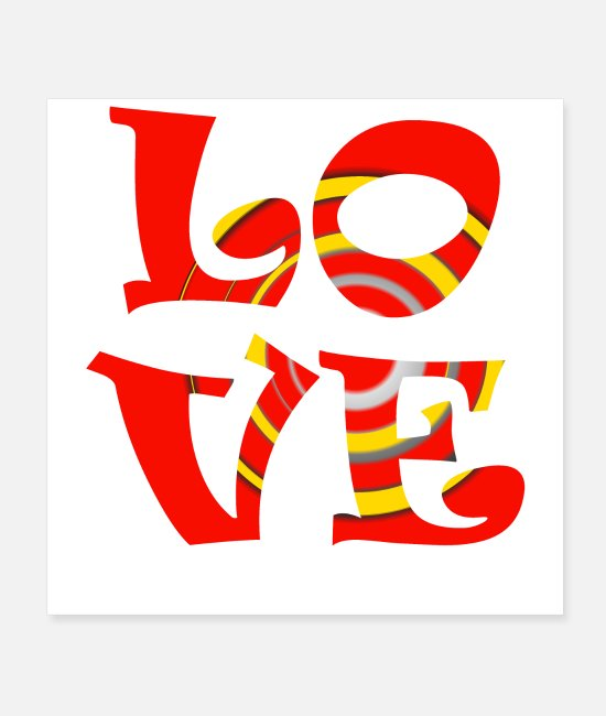 Heart Posters - Love - Posters white