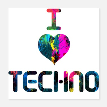 Techno I Love Techno - Poster