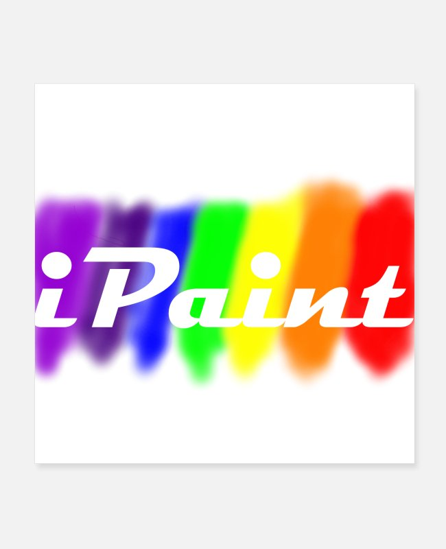 Artist Posters - iPaint - Posters white