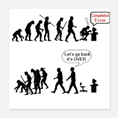 Human Rights human evolution as a geek - Poster