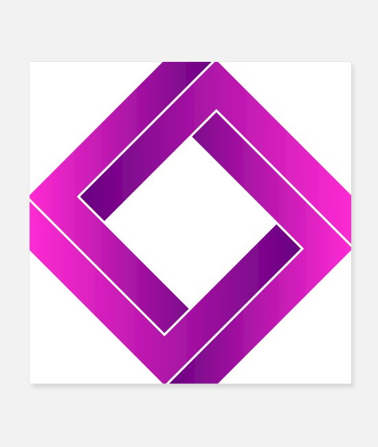 Geometry Posters - geometric square - Posters white