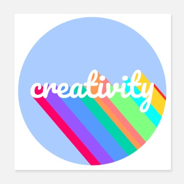 Creative creativity retro - Poster
