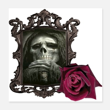 Frame Evil is framed and highlighted with a rose. - Poster