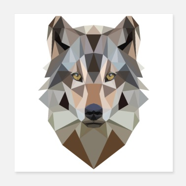 Wolf Low Poly Art Wolf - Gift Idea - Poster